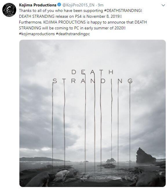 《死亡搁浅》确认将于2020年夏天登陆PC平台-Gamewower