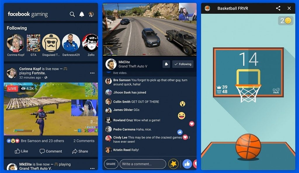 Facebook推出游戏直播应用Facebook Gaming-Gamewower