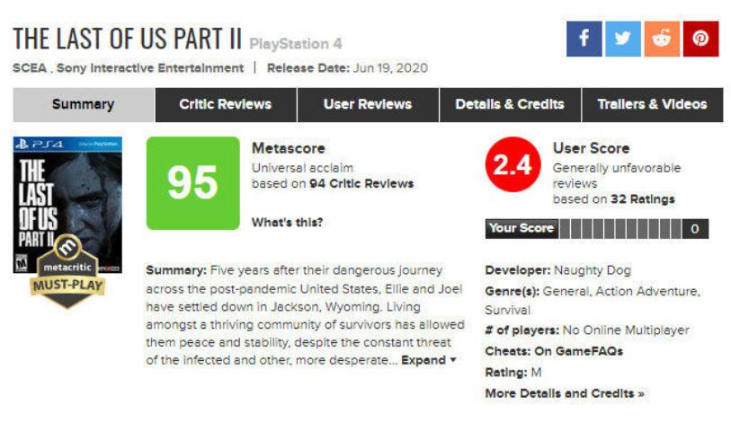 口碑两级分化 《最后生还者2》最终还是把剧情玩烂了-Gamewower