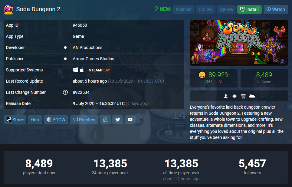"Steam好评89%,放置+经营《苏打地牢2》有多""魔性""?-Gamewower"
